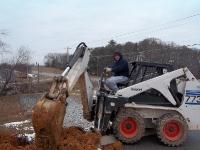 bobcat-trenching-underground-utilities